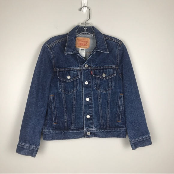 Levis Denim Jacket M Blue Trucker Button Jean